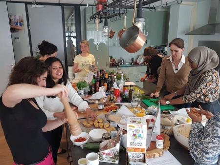 Live cooking met Mediterraanse producten van Enrico