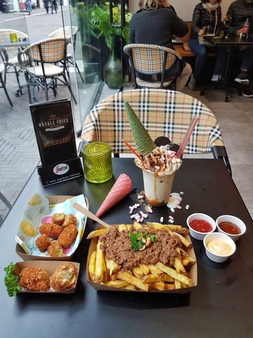 Uitgebreide lunch bij de luxe snackbar Royalz Fries