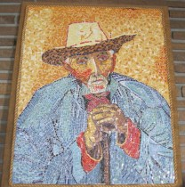 Old Peasant by Van Gogh - mosaic