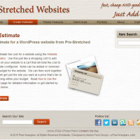 Pre-Stretched Websites - Create an Estimate