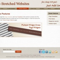 Pre-Stretched Websites - Theme Features
