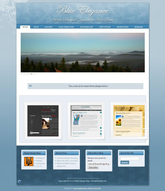 Blue Elegance WordPress Theme