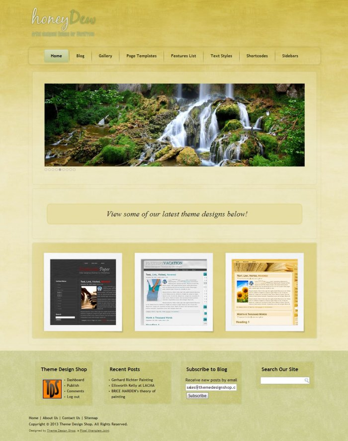 Honey Dew WordPress Theme