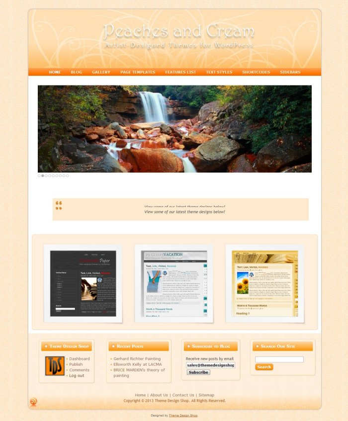 Peaches and Cream WordPress Theme