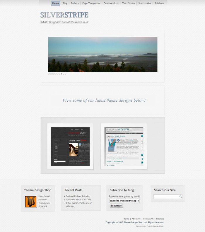 Silver Stripe WordPress Theme