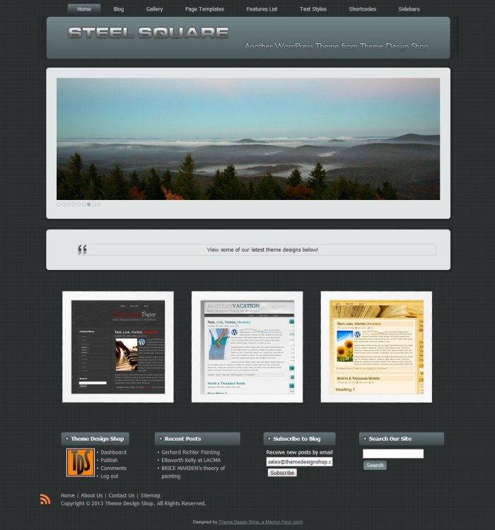 Steel Square WordPress Theme