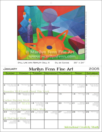 Marilyn Fenn Calendar Inside - January