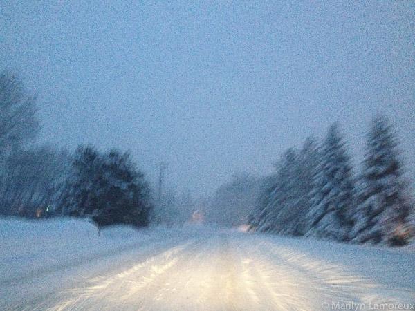 Snowy street - iPhone image