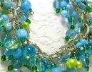 Aqua and Green Cha Cha Bracelet