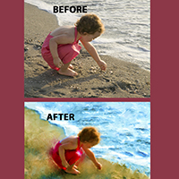 Beach Baby Corel Painter Tutorial 2015