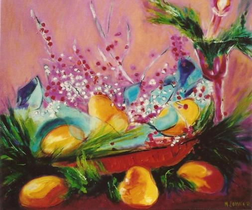 Basket of Pears 20x24