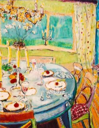 Dining under the Golden Candelabra 30x36