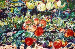 Espalier of Apples 24x28