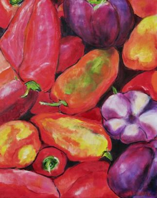 Juicy Peppers 16x20