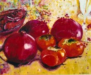 Pomegranetes and Persimmons 16x20