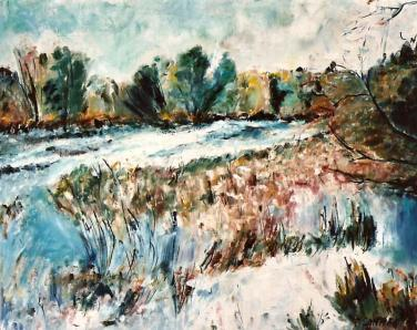 Snowy River Banks 16x20