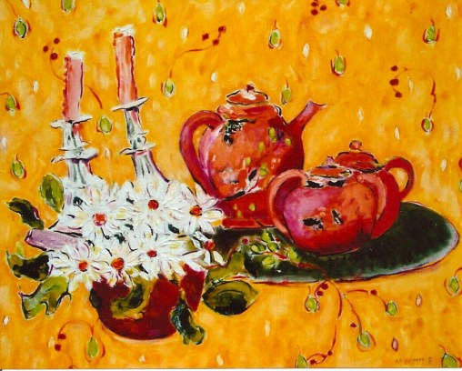 Still Life with Daisies 24x30