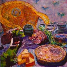 Still Life with Quiche 30x30
