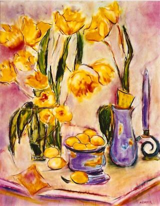 Still Life with Tulips 24x30 (2)