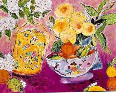 Still Life with Yellow Blossoms 24x30