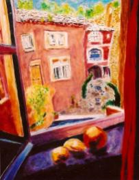 The French Courtyard 24x30