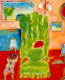 The Green Chair 18x24