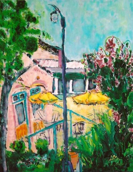 The Yellow Umbrella 18x24