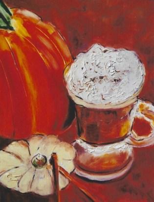 Pumpkin with Hot Beverage 16x20