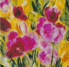 Tulips I 18x18