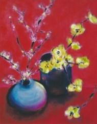 Asian Floral Arrangement 18x20
