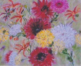 Dalias in Bloom II 24x 30