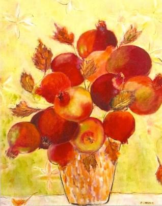 bouquet of pomegranates 24x30