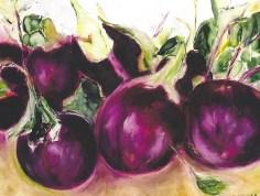 delicious eggplants 20x24