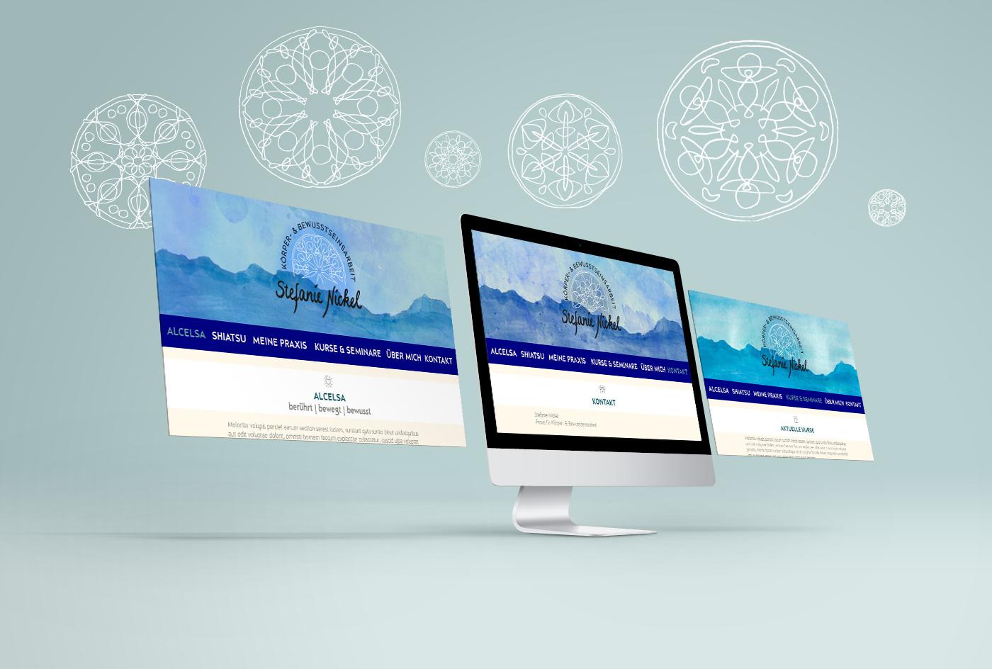 Stefanie Nickel Alcelsa® Schweiz Chur Obersaxen Webdesign Grafik Design Marina Grimme Augsburg