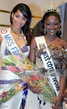 Alima Diomandé Miss Côte d'Ivoire 2006 et Cindy Fabre Miss France 2005