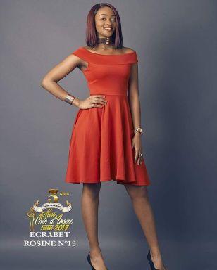 Rosine Ecrabet , Miss Côte d'Ivoire France 2017