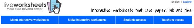 Сервисы для создания интерактивных рабочих листов