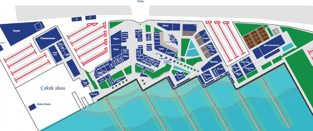Mersin Marina Yerlesim Plani
