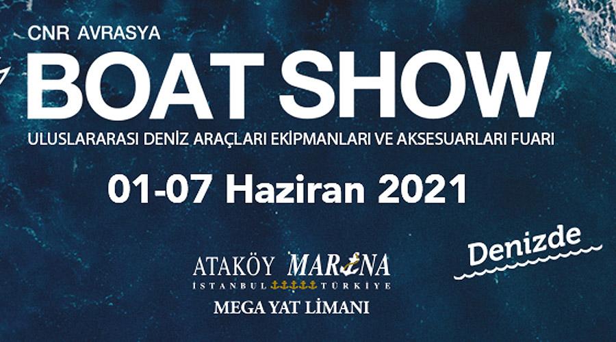 """""""CNR Avrasya Boat Show Denizde"""" 7 Haziran'da Başlıyor"""