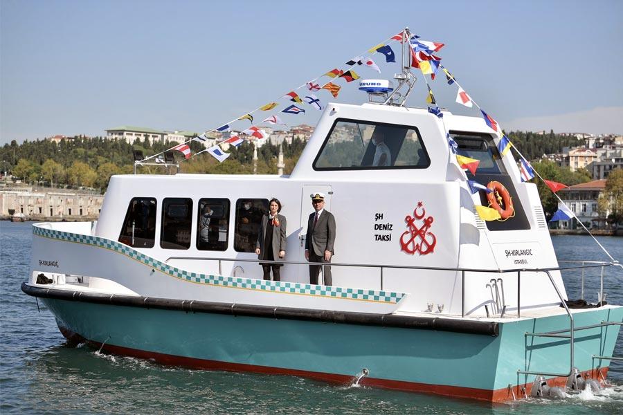 Haliç Tersanesinde Yapılan Deniz Taksiler Dünya Denizcilik Gününde Denizle Buluştu