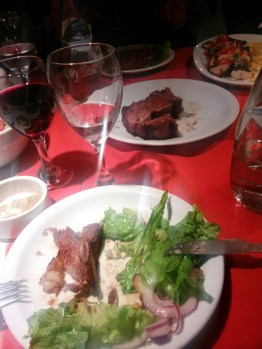 First steak and Malbec at Faustino's