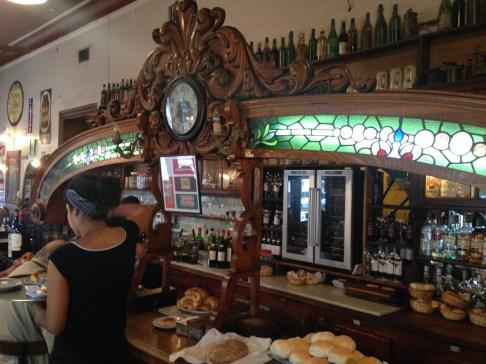 Old-time bar at El Federal