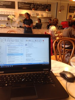 Working at Ninina, our favorite coffee shop