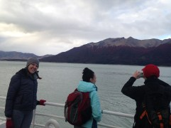 Boat ride to the glacier - Arestia, Carolyn, Ryan