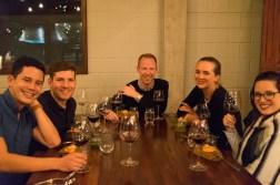 Gustu dinner: the group (Mike, David, Shawn, Zoe, me)