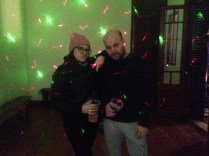 Me and Brecht tearing up the dance floor at the mansion (I'm drinking Emergen-C)