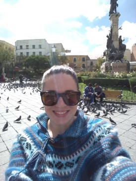 Pigeons at Plaza Murrillo