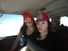 Danielle and I in our Jeep