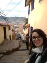 Sean and I walking Cusco's stairs