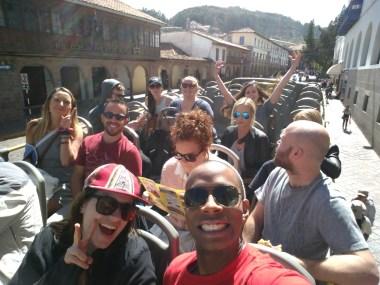 Our panoramic bus ride adventure around Cusco begins